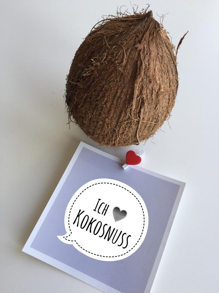 einfach mal hallo sagen auf kokosnuss gesund. Black Bedroom Furniture Sets. Home Design Ideas